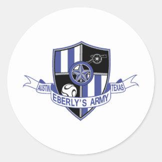 El ejército de Eberly Etiquetas Redondas