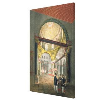 """El EL Aksa de la mezquita, de """"recuerdos de Jerusa Lienzo Envuelto Para Galerías"""