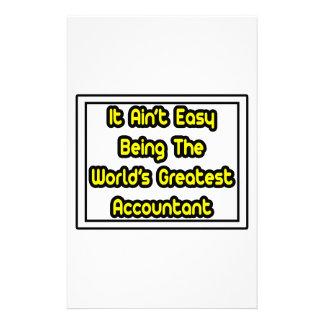 Él el contable más grande… del mundo fácil de Aint Papelería Personalizada