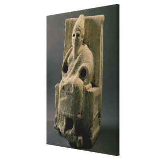 El EL de dios, de Ugarit, siglo XIII A.C. (limesto Impresión En Lienzo