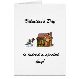 El el día de San Valentín es un día especial Tarjeta