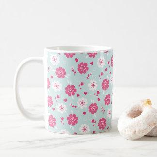El el día de San Valentín florece rosa de los Taza De Café