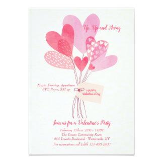 El el día de San Valentín hincha la invitación
