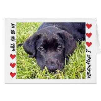 El el día de San Valentín, perrito de Labrador, Tarjeta De Felicitación