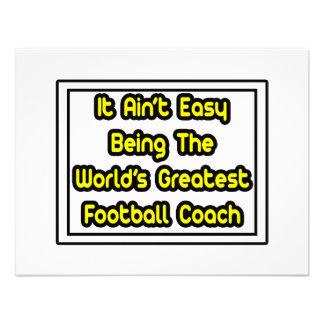 Él el entrenador de fútbol más grande… del mundo f invitaciones personalizada