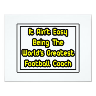 Él el entrenador de fútbol más grande… del mundo invitación 10,8 x 13,9 cm