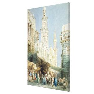 El EL Gohargiyeh, El Cairo de Sharia Impresion De Lienzo