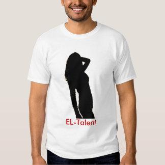 el EL-Talento/el blanco de los hombres Camisetas