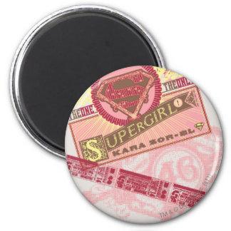 El el único Supergirl Imán Redondo 5 Cm