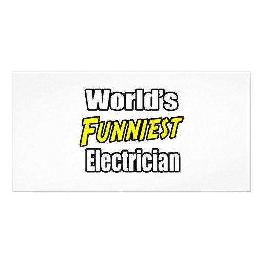 El electricista más divertido del mundo tarjetas fotograficas personalizadas