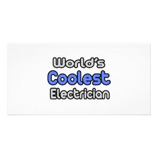El electricista más fresco del mundo tarjeta fotografica