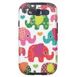 El elefante colorido embroma el caso de Samsung de Galaxy S3 Protector