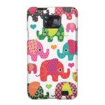 El elefante colorido embroma el caso de Samsung de Samsung Galaxy SII Carcasas