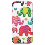 El elefante colorido embroma el caso del iphone de iPhone 5 carcasas