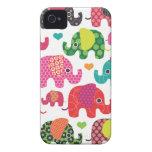 El elefante colorido embroma el caso del iphone de Case-Mate iPhone 4 cárcasas