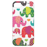 El elefante colorido embroma el caso del iphone de iPhone 5 Case-Mate protector