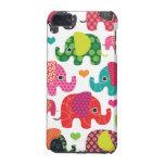 El elefante colorido embroma la caja de iPod del m