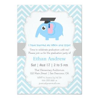 El elefante lindo embroma a la fiesta de invitación 11,4 x 15,8 cm