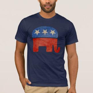 El elefante republicano se descoloró camiseta