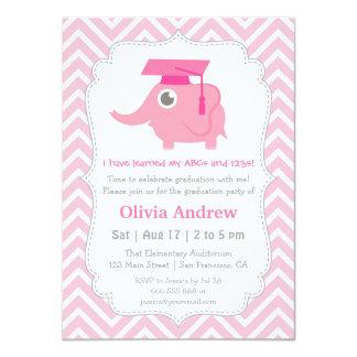 El elefante rosado embroma a la fiesta de invitación 11,4 x 15,8 cm