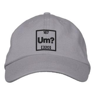 El elemento del bordado de la confusión gorra bordada