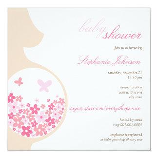 El embarazo y la fiesta de bienvenida al bebé invitación 13,3 cm x 13,3cm