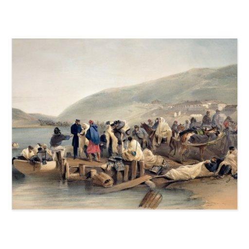El embarque del enfermo en Balaklava Postales