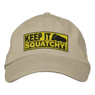 ¡El EMBROIDERED amarillo lo guarda Squatchy - B Gorra De Béisbol