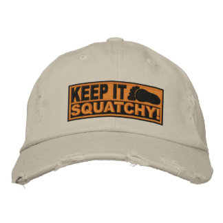 ¡El *EMBROIDERED* anaranjado lo guarda Squatchy! - Gorra Bordada