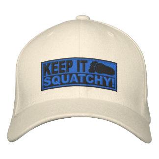 ¡El EMBROIDERED azul lo guarda Squatchy - Bobo Gorras Bordadas