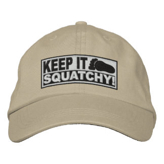 ¡El *EMBROIDERED* blanco lo guarda Squatchy! - Bob Gorra Bordada