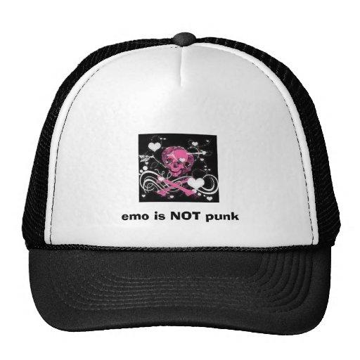 el emo no es punky gorro