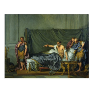 El emperador Severus que reprende a su hijo Postales