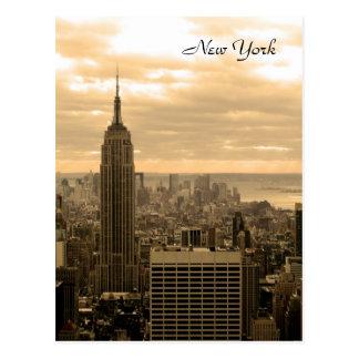 El Empire State Building sepia Tarjetas Postales
