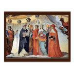 El empíreo y las figuras de los ocho cielos tarjetas postales