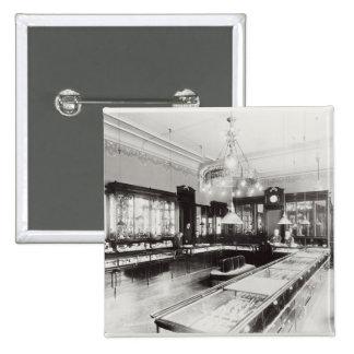El emporio de Faberge (foto de b/w) Chapa Cuadrada 5 Cm
