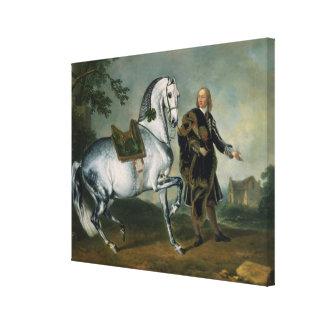 """El en Dappled Piaffe de """"Scarramuie"""" del caballo Impresion En Lona"""