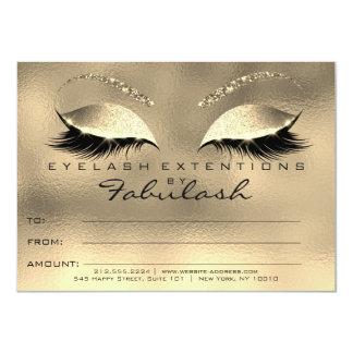 El encanto del oro azota el regalo del certificado invitación 11,4 x 15,8 cm