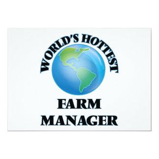 El encargado más caliente de la granja del mundo invitación 12,7 x 17,8 cm