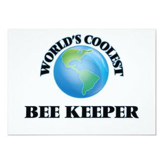 El encargado más fresco de la abeja del mundo invitación 12,7 x 17,8 cm