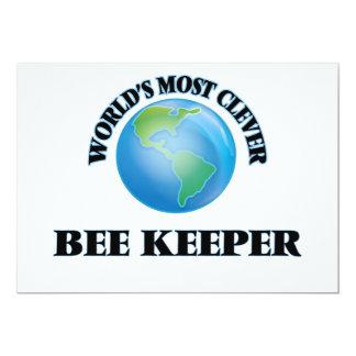 El encargado más listo de la abeja del mundo invitación 12,7 x 17,8 cm