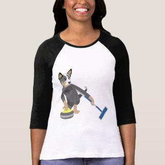 El encresparse australiano del perro del ganado camisetas