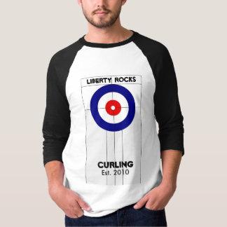 El encresparse de las rocas de la libertad camiseta