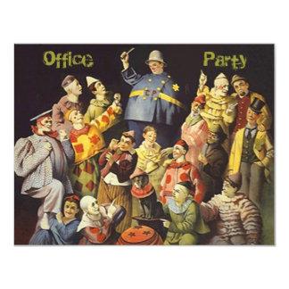 El encuentro social de los payasos de la invitación 10,8 x 13,9 cm