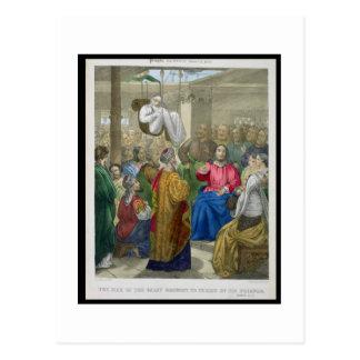 El enfermo de la parálisis trajo a Cristo por su Postal