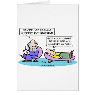 el engañar ilusorio de la gente del psiquiatra tarjeta