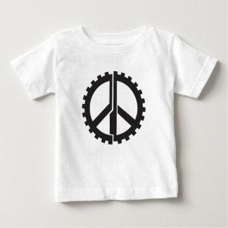 El engranaje de la paz de la PÁGINA Camiseta De Bebé