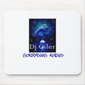 El engrasador de DJ garabatea la estera de radio Alfombrilla De Ratón