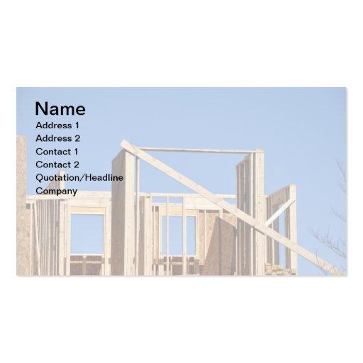 el enmarcar de la casa de madera plantillas de tarjetas de visita