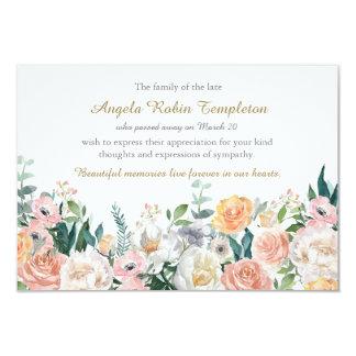 El entierro conmemorativo de los rosas de la invitación 8,9 x 12,7 cm